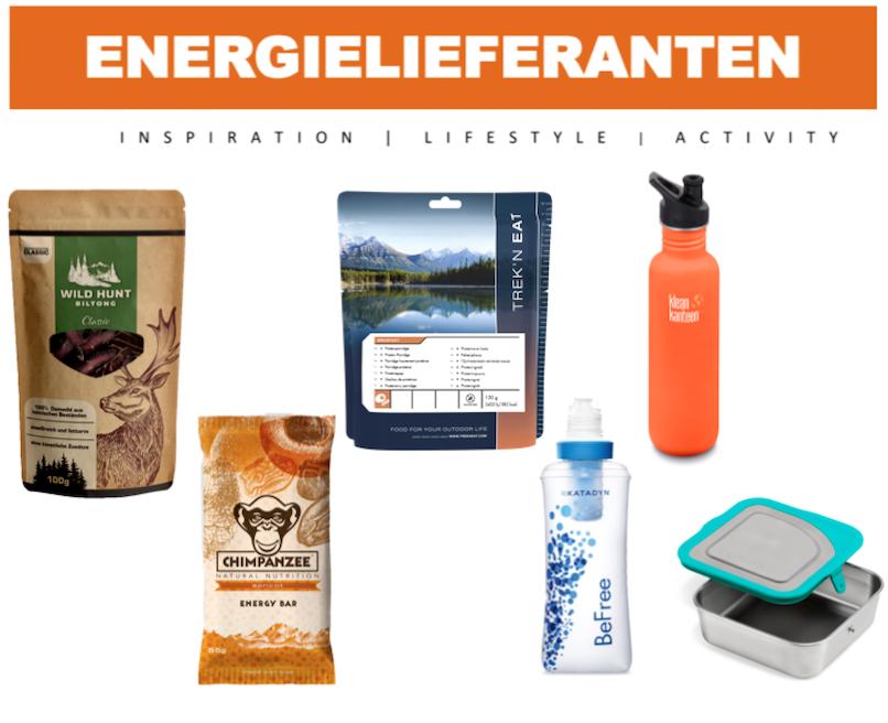 Energielieferanten für aktive Tage